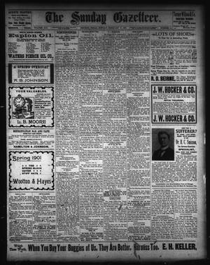 Primary view of The Sunday Gazetteer. (Denison, Tex.), Vol. 19, No. 44, Ed. 1 Sunday, February 17, 1901