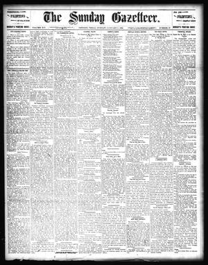 Primary view of object titled 'The Sunday Gazetteer. (Denison, Tex.), Vol. 14, No. 37, Ed. 1 Sunday, January 5, 1896'.