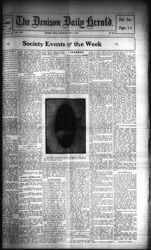 Primary view of object titled 'The Denison Daily Herald. (Denison, Tex.), Vol. 17, No. 266, Ed. 1 Saturday, May 19, 1906'.