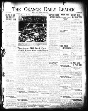 Primary view of object titled 'The Orange Daily Leader (Orange, Tex.), Vol. 17, No. 210, Ed. 1 Friday, September 2, 1921'.