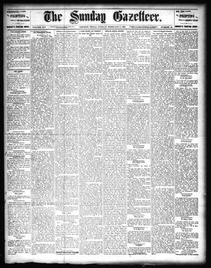 Primary view of object titled 'The Sunday Gazetteer. (Denison, Tex.), Vol. 14, No. 42, Ed. 1 Sunday, February 9, 1896'.