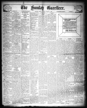 Primary view of object titled 'The Sunday Gazetteer. (Denison, Tex.), Vol. 7, No. 14, Ed. 1 Sunday, August 5, 1888'.