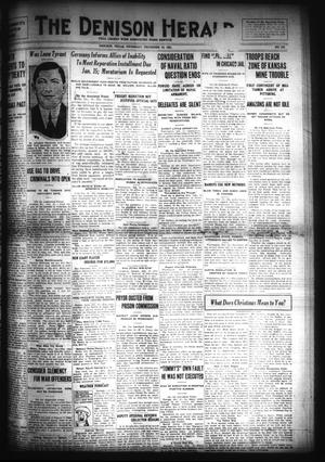 Primary view of object titled 'The Denison Herald (Denison, Tex.), No. 120, Ed. 1 Thursday, December 15, 1921'.