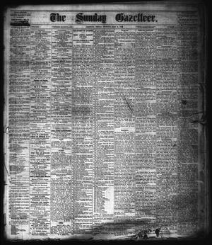 Primary view of object titled 'The Sunday Gazetteer. (Denison, Tex.), Vol. 1, No. 2, Ed. 1 Sunday, May 6, 1883'.