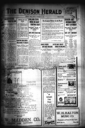 Primary view of object titled 'The Denison Herald (Denison, Tex.), No. 98, Ed. 1 Friday, November 18, 1921'.