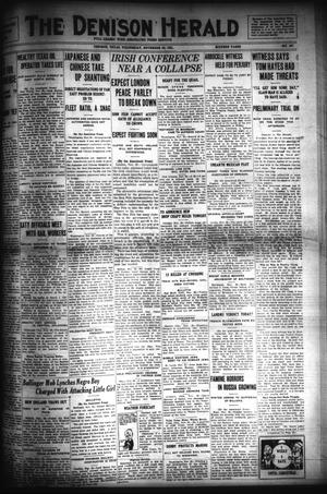Primary view of object titled 'The Denison Herald (Denison, Tex.), No. 107, Ed. 1 Wednesday, November 30, 1921'.