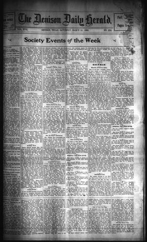 Primary view of object titled 'The Denison Daily Herald. (Denison, Tex.), Vol. 17, No. 224, Ed. 1 Saturday, March 31, 1906'.