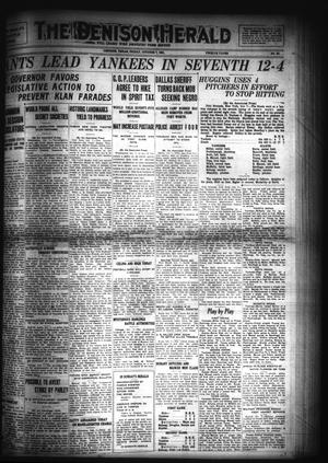 Primary view of object titled 'The Denison Herald (Denison, Tex.), No. 62, Ed. 1 Friday, October 7, 1921'.