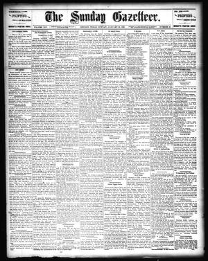 Primary view of object titled 'The Sunday Gazetteer. (Denison, Tex.), Vol. 14, No. 40, Ed. 1 Sunday, January 26, 1896'.