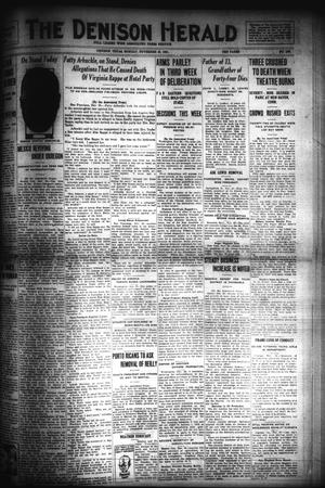 Primary view of object titled 'The Denison Herald (Denison, Tex.), No. 105, Ed. 1 Monday, November 28, 1921'.