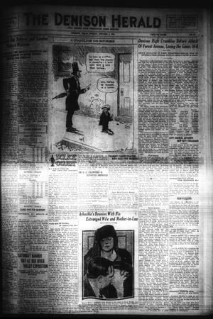 Primary view of object titled 'The Denison Herald (Denison, Tex.), No. 57, Ed. 1 Sunday, October 2, 1921'.