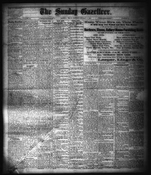 Primary view of object titled 'The Sunday Gazetteer. (Denison, Tex.), Vol. 3, No. 37, Ed. 1 Sunday, January 11, 1885'.