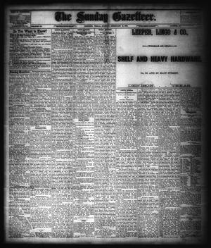 Primary view of object titled 'The Sunday Gazetteer. (Denison, Tex.), Vol. 3, No. 42, Ed. 1 Sunday, February 15, 1885'.
