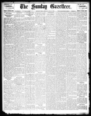 Primary view of object titled 'The Sunday Gazetteer. (Denison, Tex.), Vol. 14, No. 52, Ed. 1 Sunday, April 19, 1896'.