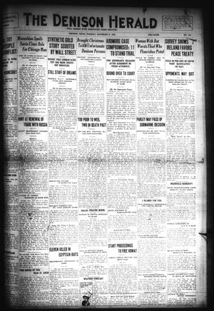 Primary view of object titled 'The Denison Herald (Denison, Tex.), No. 129, Ed. 1 Tuesday, December 27, 1921'.