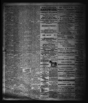 Primary view of object titled 'The Sunday Gazetteer. (Denison, Tex.), Vol. 1, No. 22, Ed. 1 Sunday, September 23, 1883'.