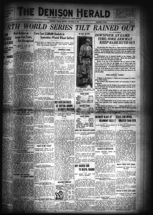 Primary view of object titled 'The Denison Herald (Denison, Tex.), No. 63, Ed. 1 Sunday, October 9, 1921'.