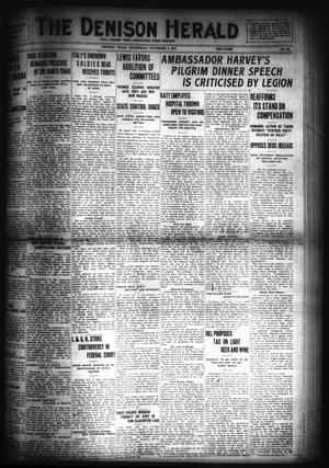Primary view of object titled 'The Denison Herald (Denison, Tex.), No. 84, Ed. 1 Wednesday, November 2, 1921'.