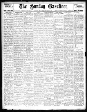 Primary view of object titled 'The Sunday Gazetteer. (Denison, Tex.), Vol. 14, No. 51, Ed. 1 Sunday, April 12, 1896'.