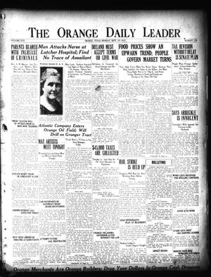 Primary view of object titled 'The Orange Daily Leader (Orange, Tex.), Vol. 17, No. 224, Ed. 1 Monday, September 19, 1921'.