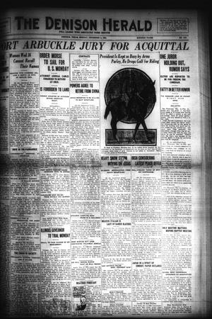 Primary view of object titled 'The Denison Herald (Denison, Tex.), No. 110, Ed. 1 Sunday, December 4, 1921'.
