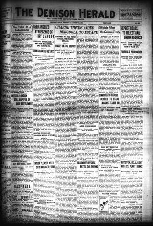 Primary view of object titled 'The Denison Herald (Denison, Tex.), No. 333, Ed. 1 Thursday, August 18, 1921'.