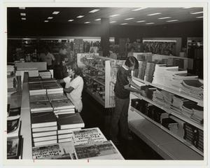 Primary view of object titled '[Photograph of Students in Campus Center Bookstore]'.