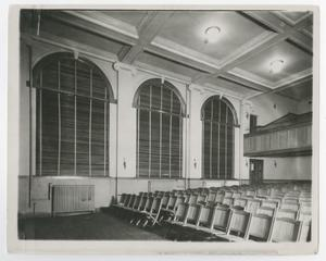 Primary view of object titled '[Photograph of Auditorium Chairs]'.