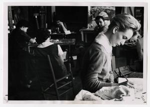 Primary view of object titled '[Photograph of Students in Morning Art Class]'.