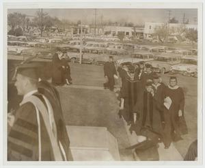 Primary view of object titled '[Photograph of Inauguration Day for McMurry President Dr. Gordon Bennett]'.