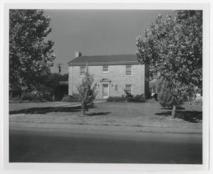 Primary view of object titled '[Photograph of McMurry President's House]'.