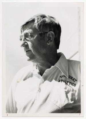 Primary view of object titled '[Photograph of Coach Hershel Kimbrell]'.