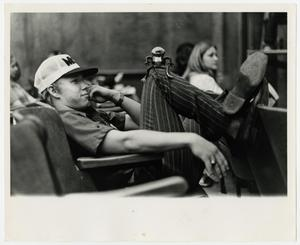Primary view of object titled '[Photograph of Student in the Auditorium]'.
