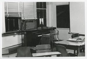 Primary view of object titled '[Photograph of Music Classroom in Old Main]'.