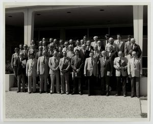 Primary view of object titled '[Photograph of McMurry College Board of Trustees, Spring 1981]'.
