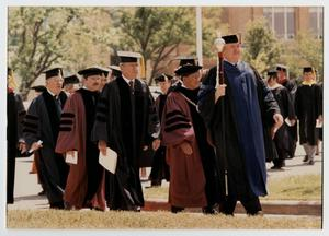 Primary view of object titled '[Photograph of McMurry 1987 Graduation Processional]'.
