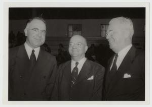 Primary view of object titled '[Photograph of Harold Cooke, L. L. Evans, and Umphrey Lee]'.
