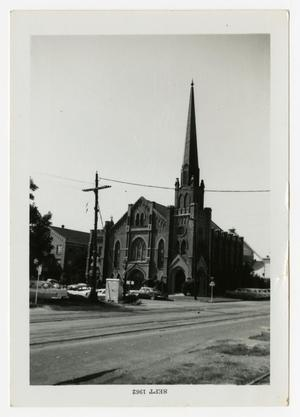 Primary view of object titled '[Photograph of First Methodist Church in Waco, Texas]'.