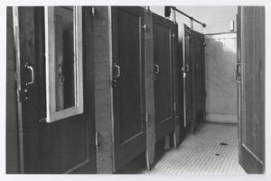 Primary view of object titled '[Photograph of Restroom in Old Main]'.