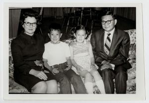 Primary view of object titled '[Photograph of Dr. Thomas Kim and Family]'.