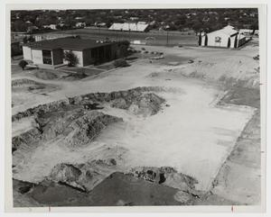 Primary view of object titled '[Excavation for the Foundation of the Campus Center]'.