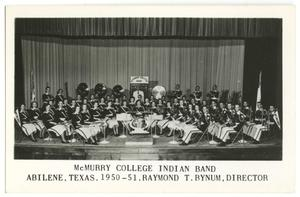 Primary view of object titled '[Photograph of McMurry College Indian Band]'.