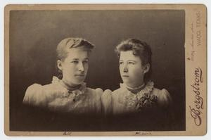 Primary view of object titled '[Portrait of Bell and Mamie]'.