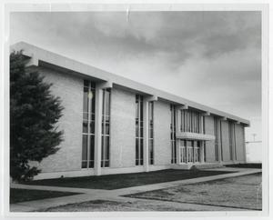Primary view of object titled '[Photograph of Front of Science Building]'.