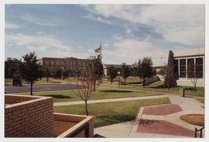 Primary view of object titled '[Photograph of McMurry Campus Looking South]'.