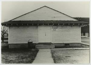 Primary view of object titled '[Photograph of the Front of Old Fine Arts Building]'.