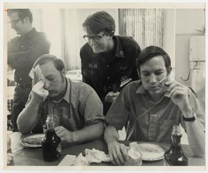 Primary view of object titled '[Photograph of Students at Eating Contest]'.