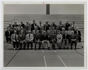 Primary view of object titled '[Photograph of the McMurry College Board of Trustees]'.