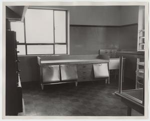 Primary view of object titled '[Photograph of Equipment at Iris Graham Memorial Dining Hall]'.