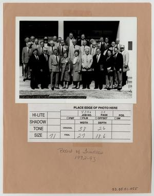 Primary view of object titled '[Photograph of McMurry College Board of Trustees, 1992-1993]'.
